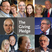 Billionaires pledge to give over fifty percent of their wealth away.