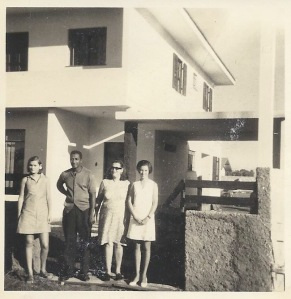 In Brazil Ed designed and built the family home with his own hands.